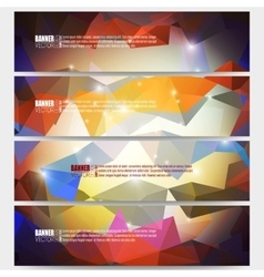 Set of modern banners Abstract vector image