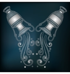 Silver amphora zodiac Aquarius sign vector image