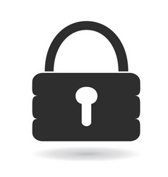simple lock icon vector image