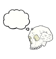 Skull with thought bubble vector