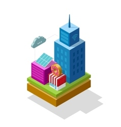 Smart city isometric vector