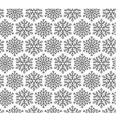 Snow flake line seamless pattern winter background vector