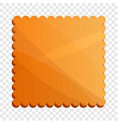 Square coffee biscuit icon cartoon style vector