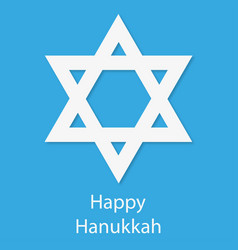 stars on a blue background hanukkah day vector image