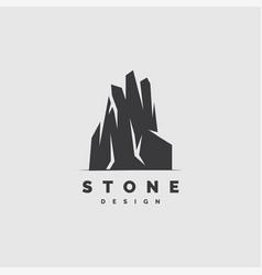 Stone logo design vector