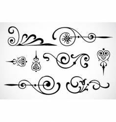 swirl ornaments vector image