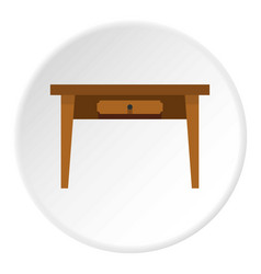table icon circle vector image