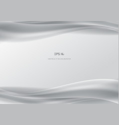 template header and footers abstract white waves vector image