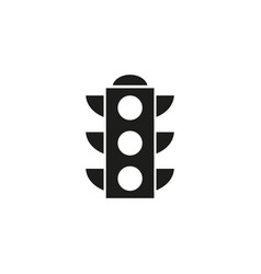 traffic lights icon black vector image