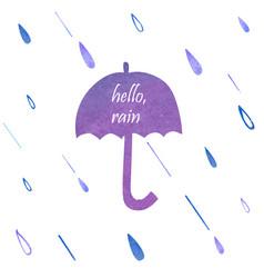 Umbrella watercolor silhouette vector