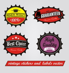 vintage stickers vector image