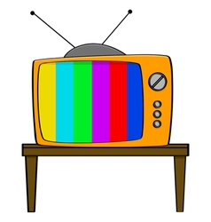 Vintage TV vector image