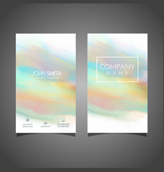watercolour business card design vector image