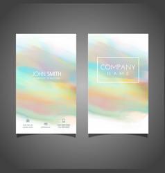 Watercolour business card design vector