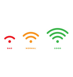 wifi icon for interface design wlan access vector image