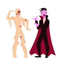 young man dressed in halloween party costumes - vector image