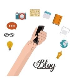 Blog design vector image vector image