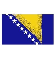 Bosnia and herzegovina flag isolated vector
