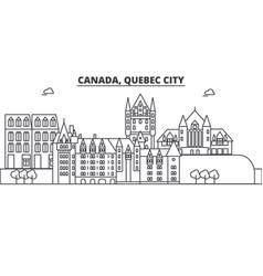 Canada quebec city architecture line skyline vector
