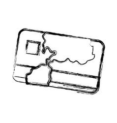 credit card bank money symbol vector image