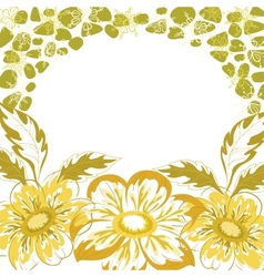 Floral background dahlia vector image