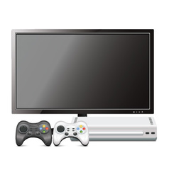 Game Console With TV vector image