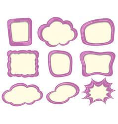 label template in purple color vector image