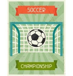 Soccer Championship Retro poster in flat design vector image vector image