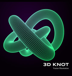 3d knot vector image vector image