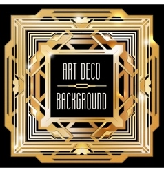 abstract gold art deco style background vector image