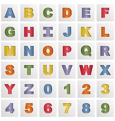 alphabet squares vector image vector image