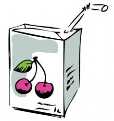cherry juice vector image vector image