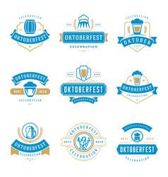 oktoberfest celebration beer festival labels vector image