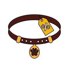 Pet collar isolated icon vector image vector image