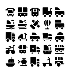 Transport Icons 7 vector image