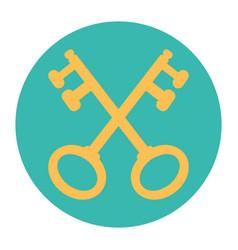 cross keys vector image vector image