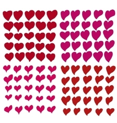 hand drawn heart set vector image