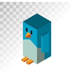 Penguin 3d icons vector image