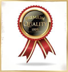 Premium quality black and gold label vector