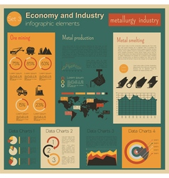 Economy and industry Metallurgy industry vector image