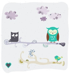 fashion owl graphic vector image vector image