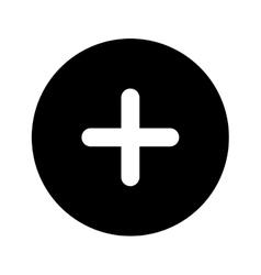 plus sign button icon vector image