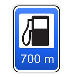 road sign refueling vector image vector image