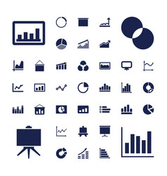 37 diagram icons vector