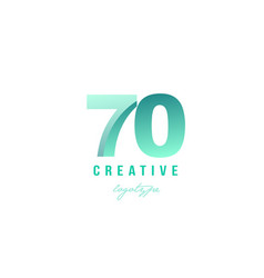 70 green pastel gradient number numeral digit vector