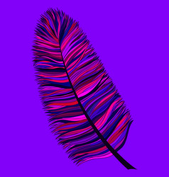 Abstract hand drawn feather vector