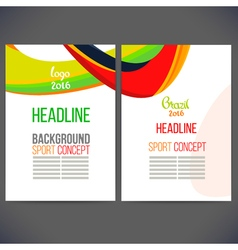 Abstract template design with colored lines and vector image