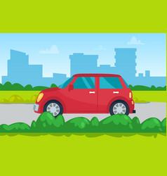 automobile in city urban transport auto vector image