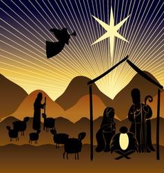 Baby Jesus in a manger 9 vector