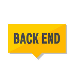 back end price tag vector image
